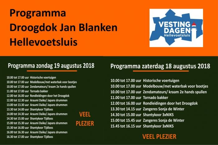 Programma Droogdok Jan Blanken met de Vestingdagen 2018