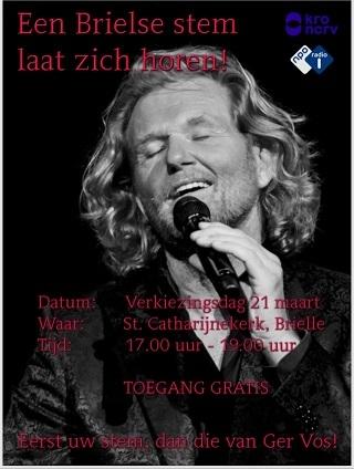 Gratis concert van Ger Vos op verkiezingsdag in Catharijnekerk!