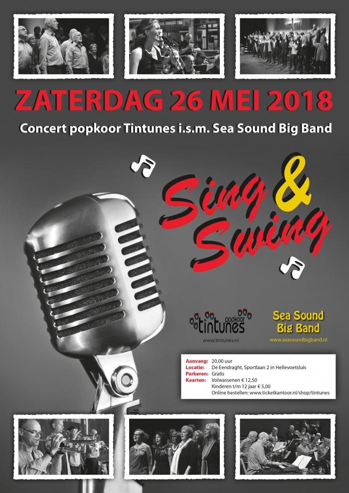 'Sing & Swing' concert Popkoor Tintunes en de Sea Sound Big Band